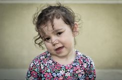 Sad and unhappy young girl. Portrait of a sad and unhappy young girl Stock Images