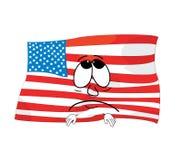 Sad united states of america cartoon Royalty Free Stock Photo