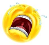 Really sad upset emoticon Royalty Free Stock Images