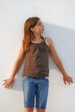 Sad and Upset Girl Alone Stock Image