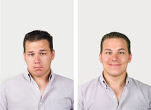 Sad versus happy Stock Photography
