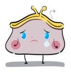 Sad wallet. Illustration of a cute sad wallet Stock Image