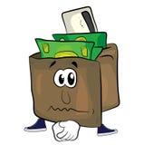 Sad wallet cartoon Stock Photos