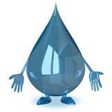 Sad water drop character Stock Photos