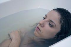 Sad, wet portrait Royalty Free Stock Photography