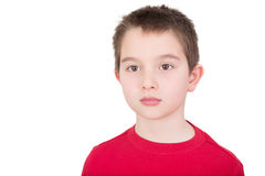 Sad wistful young boy Stock Photos