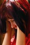 Sad woman Stock Image