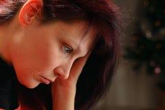 The sad woman Stock Image