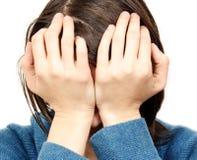 Sad woman. Portarit of a sad woman stock images