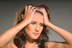 The sad woman Royalty Free Stock Photo