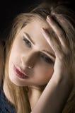 Sad woman. Portrait of a sad girl Royalty Free Stock Photography