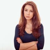 Sad woman. Closeup emotional portrait sad woman Stock Photo