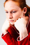 A Sad Woman Royalty Free Stock Images