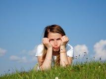 Sad Woman Stock Photo