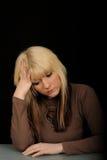 Sad woman  Royalty Free Stock Image