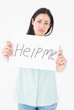 Sad woman asking for help Stock Photos