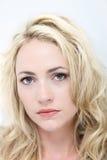 Sad woman with beautiful eyes Stock Photo