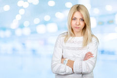 Sad woman. Sad beautiful young blonde woman Stock Images