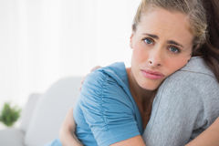 Sad woman being consoled by her friend Royalty Free Stock Photography