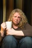 Sad woman with black eye Stock Image