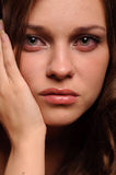 Sad woman. Close up portrait of sexy sad woman Royalty Free Stock Photo