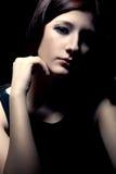 Sad woman closeup portrait Royalty Free Stock Photography