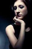 Sad woman closeup portrait Stock Images