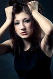 Sad woman closeup portrait Royalty Free Stock Photo