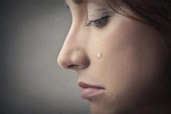 Sad woman crying Stock Images