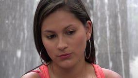 Sad Woman, Depressed Youth, Feelings stock footage