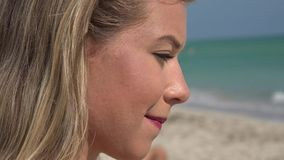Sad Woman, Depressed Youth, Feelings stock video footage