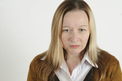Sad woman Royalty Free Stock Images