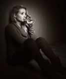 Sad woman. Stock Images