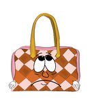 Sad woman handbag cartoon Royalty Free Stock Image