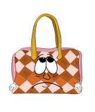 Sad woman handbag cartoon Royalty Free Stock Image