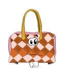 Sad woman handbag cartoon Stock Images