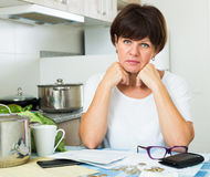 Sad woman payment Stock Image