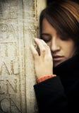 Sad woman portrait Stock Images