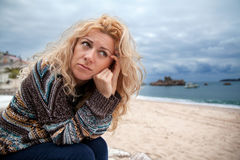 Sad woman Royalty Free Stock Photography