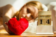 Sad woman on Valentines day Stock Photography