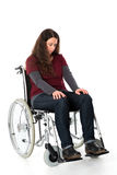 Sad woman in wheelchair Royalty Free Stock Photos