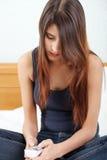 Sad young beautiful woman Stock Images