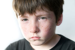 Sad young boy. Portrait of sad young boy Royalty Free Stock Image