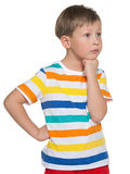 Sad young boy Royalty Free Stock Images