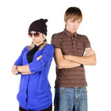 Sad young couple Royalty Free Stock Image