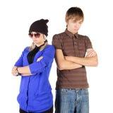 Sad young couple Royalty Free Stock Image