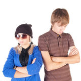 Sad young couple . Royalty Free Stock Image