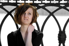 Sad young female Stock Photography