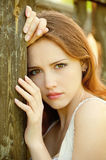 Sad young girl Stock Image