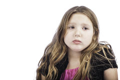 Sad young girl Stock Images